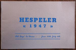 1947 Hespeler Reunion Book