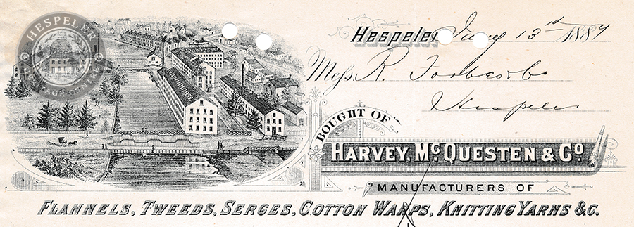 Invoice Letterhead, Harvey, McQuesten & Co.