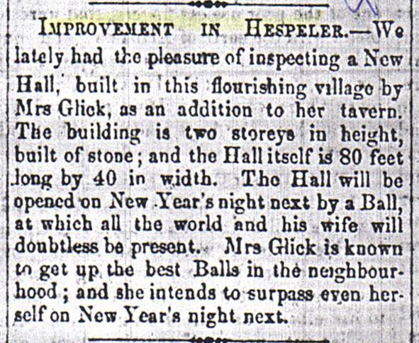 Glick's article 1863 Galt Reporter